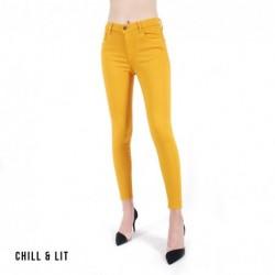Pantalon En Jeans Taille Haute