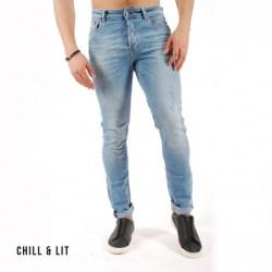 PantaLon En Jeans Clair Griffé