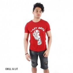 """T-shirt Graphique """"Lazy Days"""""""