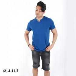 T-shirt en Coton Avec Boutons