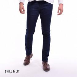 Jeans Skinny Délavage Foncé