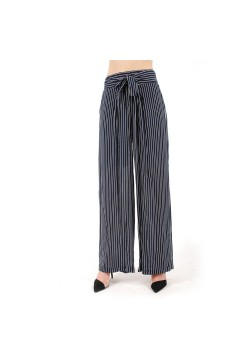 Pantalon Taille Haute Large...