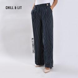 Pantalons Taille Haute Rayé...