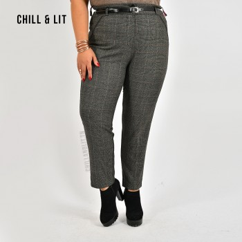 Pantalon Taille Haute à...