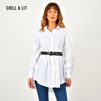 Chemise-Robe Simple Avec...