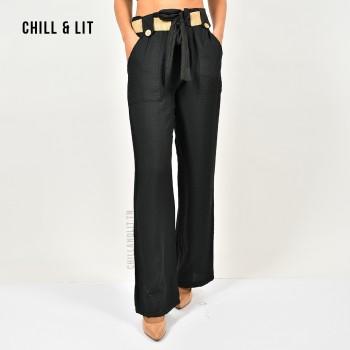 Pantalon Taille Haute Avec...