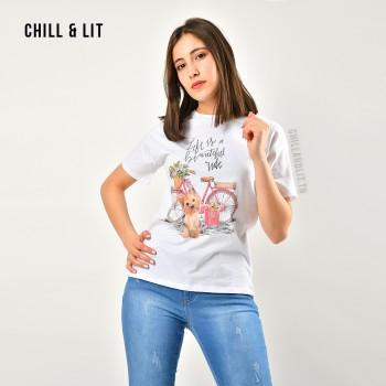 "T-shirt En Coton ""Life is a..."