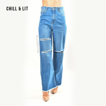 Jean Straight Leg Taille...