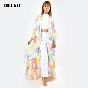 Kimono Long Tropical Avec...