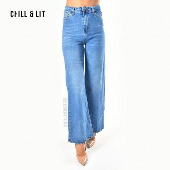 Jean Straight Leg Taille Haute